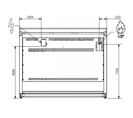 A12SF6TAA STEEL Fornuis 120 cm