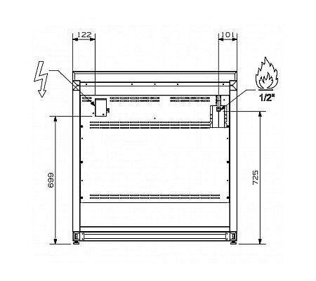 A9F4TCE STEEL Fornuis 90 cm