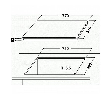 ACM813BA WHIRLPOOL Inductie kookplaat