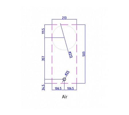 AIRPRO PITTCOOKING Gaskookplaat (domino)