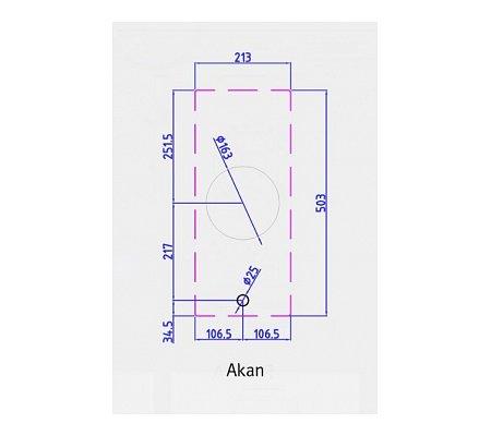 AKANPRO PITTCOOKING Gaskookplaat (domino)