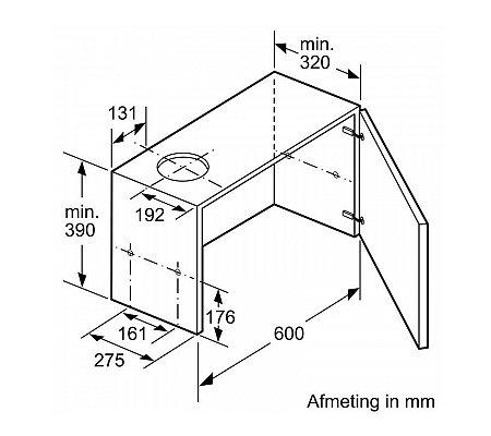 DFM064A50 BOSCH Vlakscherm afzuigkap