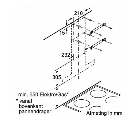 DWB060D50 BOSCH Wandschouwkap (motorloos)