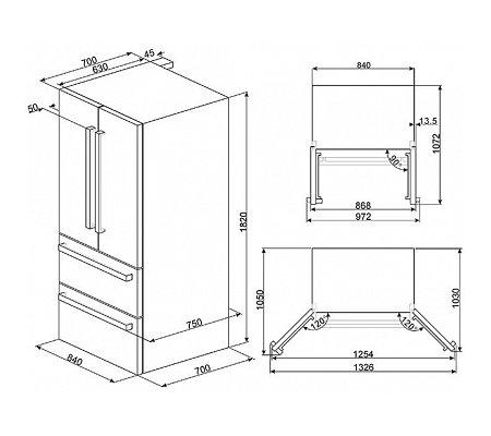 FQ55FX1 SMEG Amerikaanse koelkast