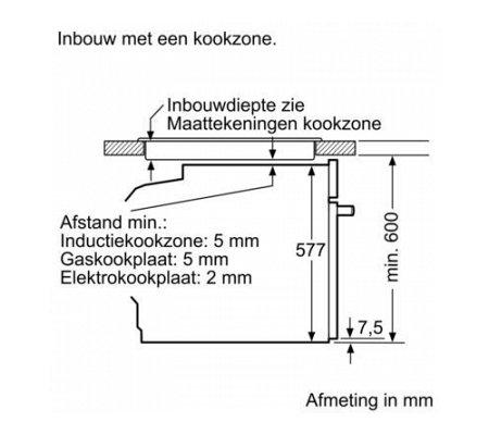HB835GTB1 SIEMENS Inbouw oven