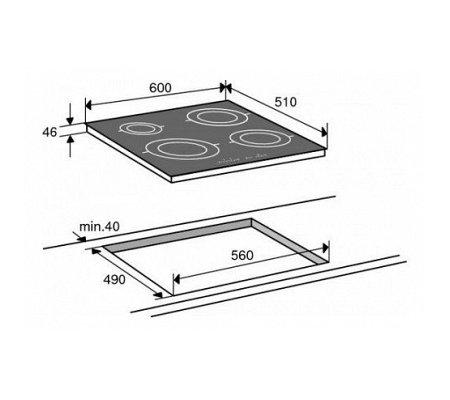 HI6272MV ATAG Inductie kookplaat