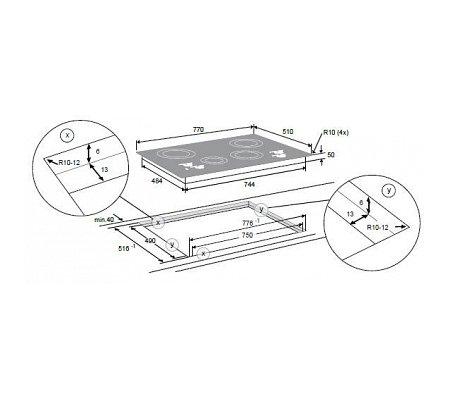 HI7271SI ATAG Inductie kookplaat