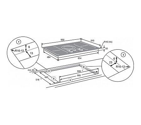 HI9271SVI ATAG Inductie kookplaat