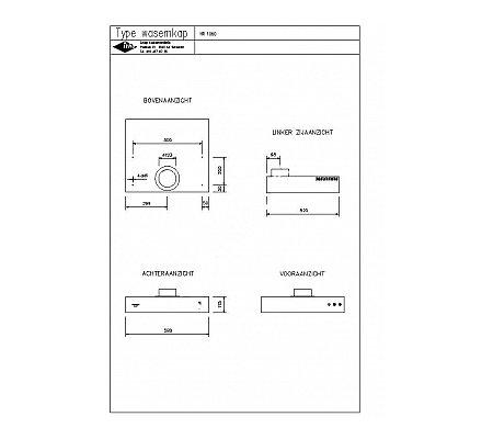 HR1060 NOVY Onderbouwkap (motorloos)
