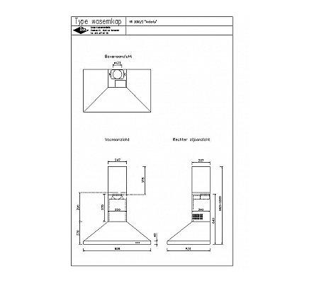 HR3090 NOVY Wandschouwkap (motorloos)