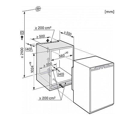 K33222I MIELE Inbouw koelkasten rond 102 cm
