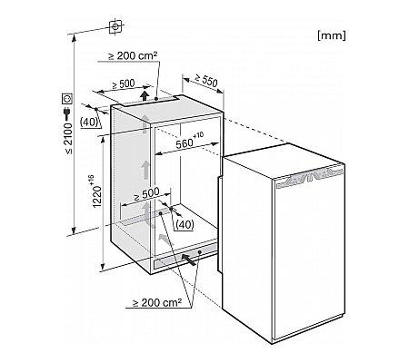 K34272ID MIELE Inbouw koelkasten rond 122 cm