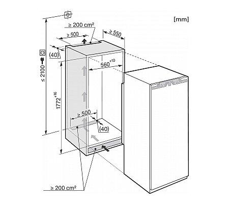 K37282IDF MIELE Inbouw koelkast vanaf 178 cm