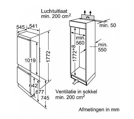 KI34VX20 SIEMENS Inbouw koelkasten vanaf 178 cm