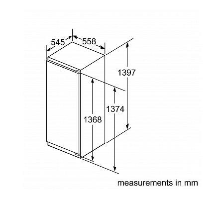 KI51FAD30 SIEMENS Inbouw koelkast rond 140 cm