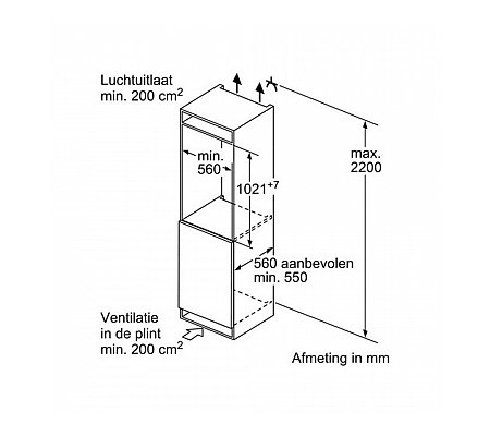 KIR31SD30 BOSCH Inbouw koelkast rond 102 cm