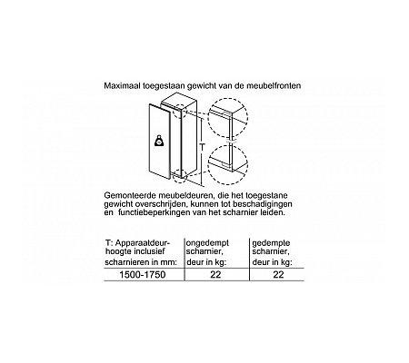 KIR81AF30 BOSCH Inbouw koelkast vanaf 178 cm