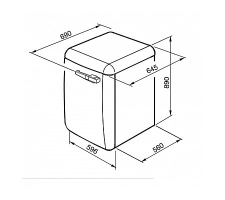 LBB14CR2 SMEG Wasmachine vrijstaand