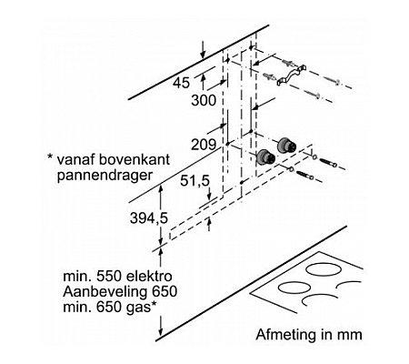 LC97BIR55 SIEMENS Wandschouw afzuigkap