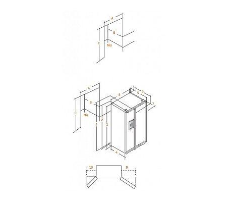 ORE24VGF8B IOMABE Side By Side koelkast