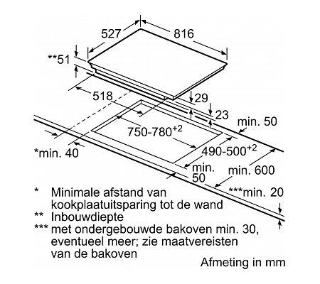 PXV895DV5E BOSCH Inductie kookplaat