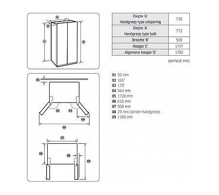 RS68N8941SLEF SAMSUNG Amerikaanse koelkast