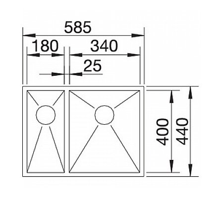 SBI521612 BLANCO Spoelbak
