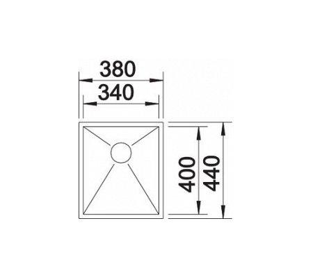 SBON521583 BLANCO Spoelbak