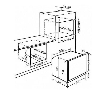 SF6395XE SMEG Solo oven