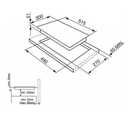 SI5322B SMEG Inductie kookplaat (domino)
