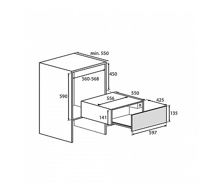 WD1611D ATAG Serviesverwarmer