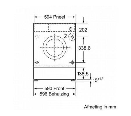 WIW24340EU BOSCH Wasmachine inbouw