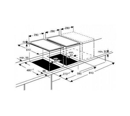 ZEI3921IBA ZANUSSI Inductie kookplaat (domino)