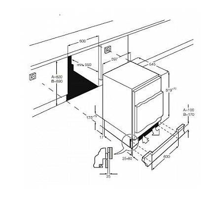 ZQA12430DA ZANUSSI Onderbouw koelkast