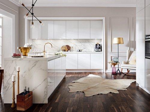 Keukens - Marmer Wit