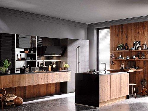 Keukens - Gerookt hout