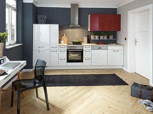 Keukens - Flash Wit/Rood
