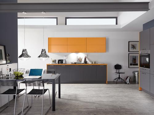 Keukens - Touch Grijs/Oranje