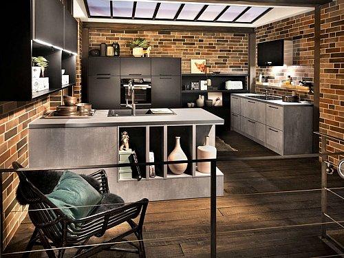 Keukens - Parelgrijs zwart