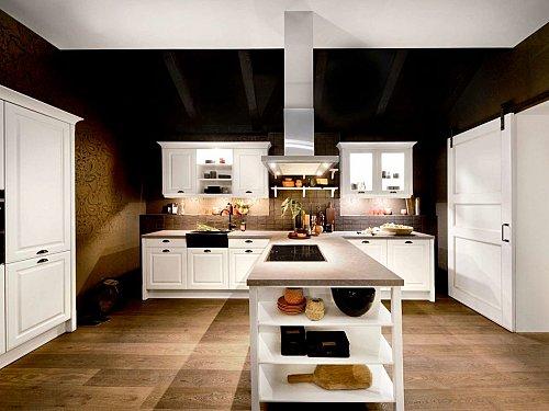 Keukens - Witte keuken met losse keukenelementen