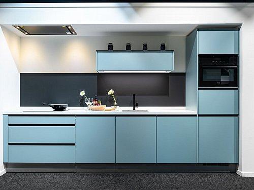 Keukens - Rechte keuken helder blauw