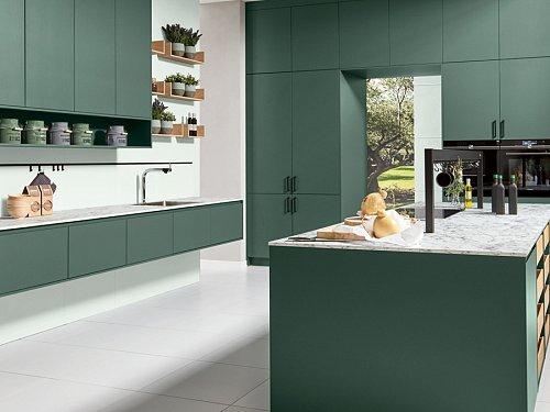 Keukens - P-Line Y Matt Donkergroen