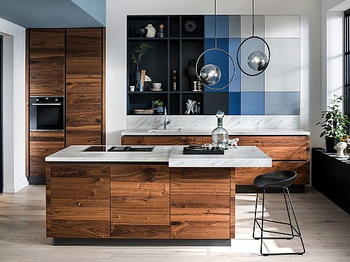 Keukens - H-Line AV6080 Nussbaum