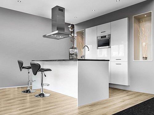 Keukens - Eilandkeuken in Hoogglans wit