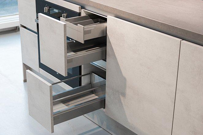 Rechte Keuken in Beton Grijs  - Afbeelding 8 van 9