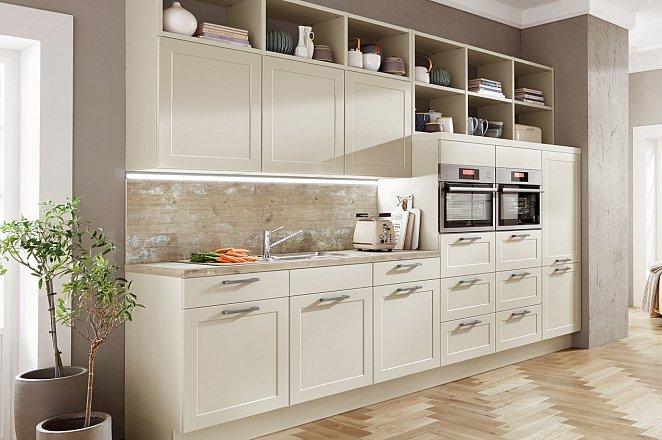 Ruime 3-delige keuken in mat crème - Afbeelding 2 van 8