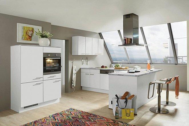 Moderne halfvrijstaande eiland keuken - Afbeelding 1 van 2
