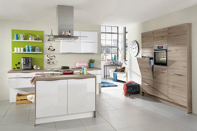 Moderne keuken met compact eiland - Afbeelding 1 van 1