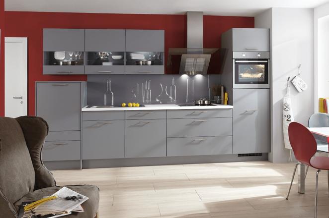 Rechte grijze keuken - Afbeelding 1 van 1