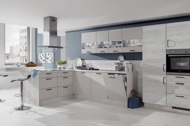 Klassieke lichtgrijze keuken - Afbeelding 1 van 1